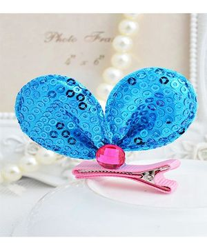 Angel Closet Sequinned Hair Clip - Blue
