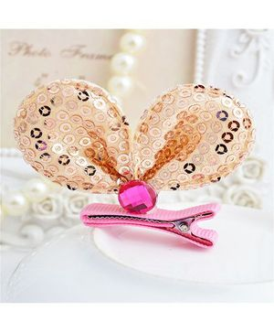 Angel Closet Sequinned Hair Clip - Champagne