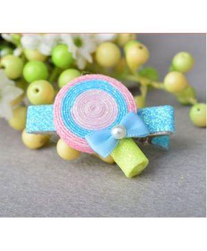 Angel Closet Candy Hair Clip - Pink & Blue
