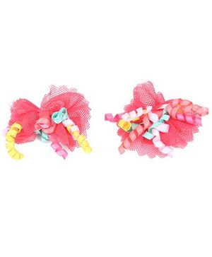 NeedyBee Bow Alligator Clips Hair Accessory  - Red