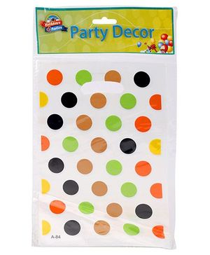 Birthdays & Parties Polka Dot Big Carry Bags - 10 Pieces