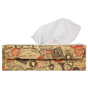 The Crazy Me Take Me Back Stamps Tissue Box Holder - Muticolour