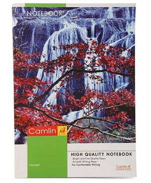 Camlin A4 Unruled Tree Print Notebook - 180 Pages