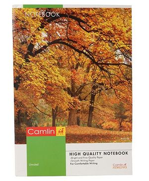 Camlin A4 Unruled Nature Print Notebook - 180 Pages