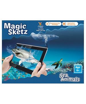 3D Coloring Book Magic Sketz - Sea Animals Activity Book By Augment Works