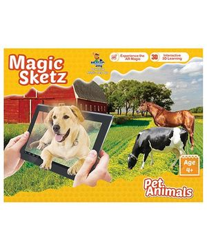 Augmented Reality 3D Coloring Book Magic Sketz Pet Animals Activity Book By Augment Works
