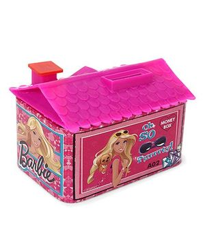 Barbie House Shaped Coin Bank - Pink