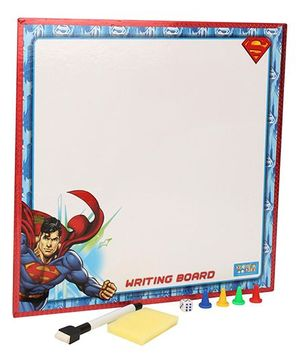 DC Comics Superman 2 in 1 Writing Board And Game - Multicolor