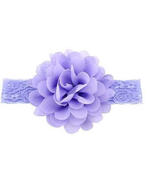 Bellazaara Large Flower Headband With Elastic - Lavender