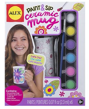 Alex Toys Paint And Sip Ceramic Mug Kit - Multicolor