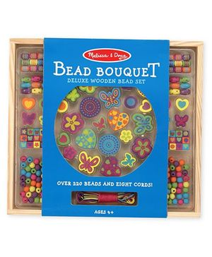 Melissa And Doug Bead Bouquet Set Multicolor - Over 220 Beads