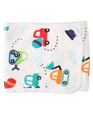 Adore Baby Belly Binder Car Print - White