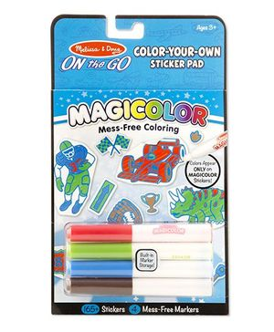 Melissa And Doug Magicolor Coloring Pad Blue - 165 stickers