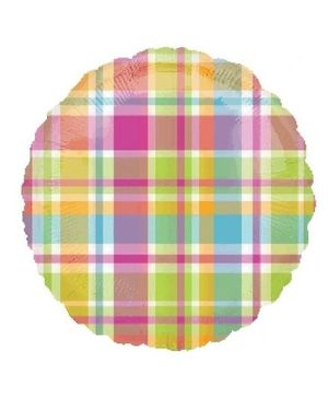 Planet Jashn Madras Plaid Foil Balloon - Multi Color
