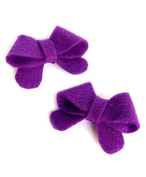 Pigtails & Ponys Starry Butterfly Bow Clips - Purple