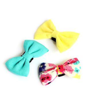 Pigtails & Ponys Sunshine Blooms Bow Clips - Multicolour