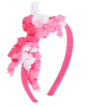 Miss Diva Curled Ribbon Hair Band - Magenta