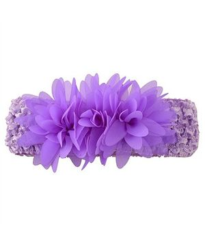 Miss Diva Flower Bunch Soft Headbands - Purple