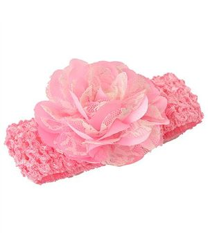 Miss Diva Elegant Flower Soft Headband - Light Pink