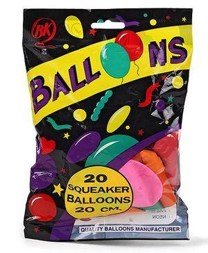 BK Balloons Squeaker Balloons 20 Pieces - Multi Color