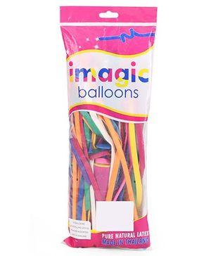 BK Balloons Imagic Balloon With Pump Multicolor - 100 Pieces