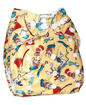 ChuddyBuddy Cloth Diaper With Magic Land Print - Light Yellow
