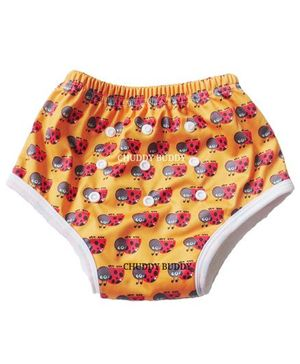 ChuddyBuddy Training Pant With Ladybird Print - Orange