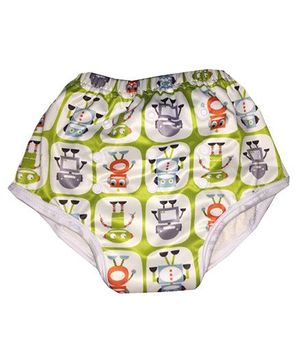 ChuddyBuddy Training Pant With Robots Print - Multicolour