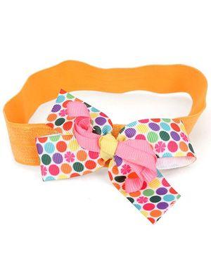 Ribbon Candy Polka Stretchy Headband - Multicolour
