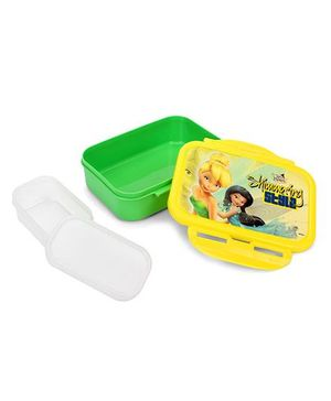 Cello Homeware Enigma Lunch Box Small Disney Fairies Print - Yellow & Green