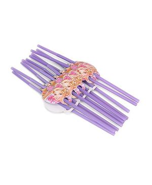 Barbie Party Straw Purple - Pack Of 10