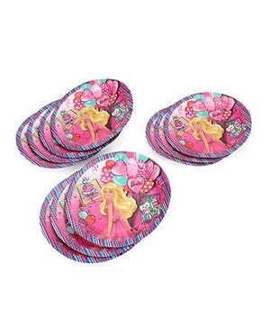 Barbie Paper Plates Multicolor - Pack Of 10
