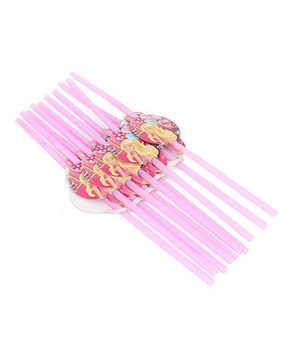 Barbie Party Straw Pink - Pack Of 10