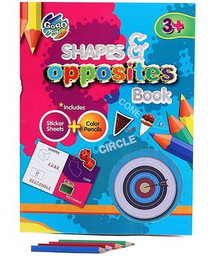 Chitra Shape And Opposites Book - Multicolor