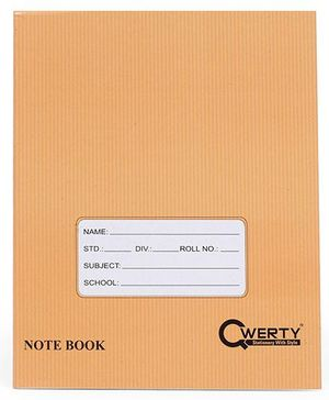 Qwerty Small Notebook Hard Cover Square Line Brown - 172  Pages