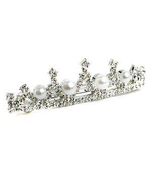 A.T.U.N Diamond & Pearl Hairclip - Silver