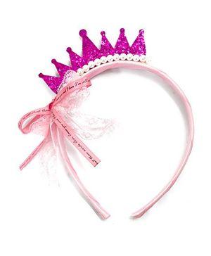 A.T.U.N Glitter Crown Hair Band - Purple