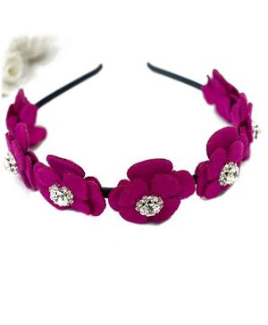 A.T.U.N Flower Hair Band - Magenta