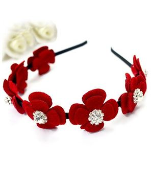 A.T.U.N Flower Hair Band - Red