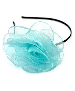 A.T.U.N Net Flower Hair Band - Blue
