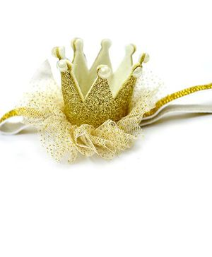 A.T.U.N Glitter Crown Headband - Golden
