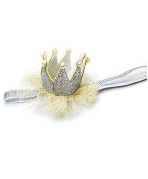A.T.U.N Glitter Crown Headband - Silver