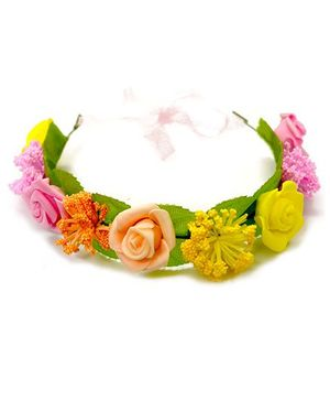 A.T.U.N Floral Hair Band - Pink & Yellow