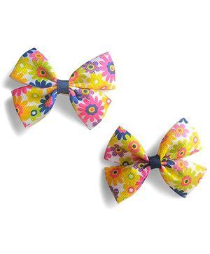 Milonee Floral Bow Clips - Multicolour