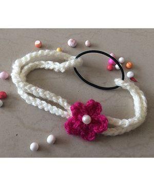 Buttercup From KnittingNani Infant Flower Headband - Magenta