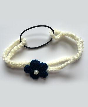 Buttercup From KnittingNani Infant Flower Headband - Blue