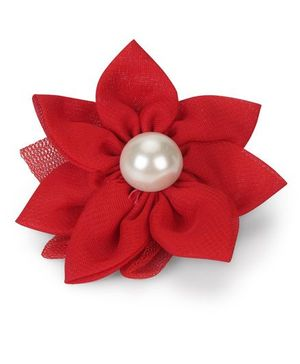 Funkrafts Pretty Flower Hair Clip - Red