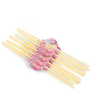 Barbie Themed Pack Of 10 Straws - Cream
