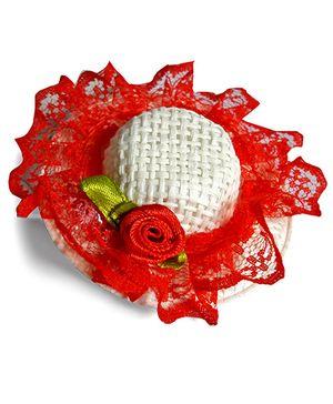 Sugarcart Bright Hat On Alligator Clip - Red