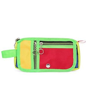 PEP INDIA Trendy Two Patch Pouch - Neon Green Red Yellow